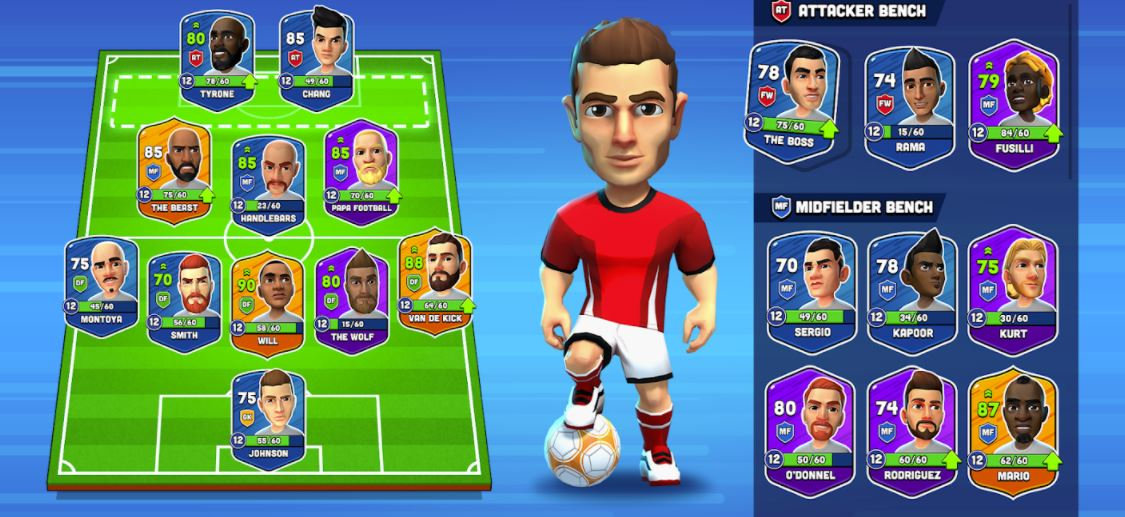 Mini Football - Gestion d'équipe